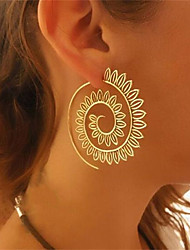 cheap -Women's Hoop Earrings - Floral / Botanicals, Flower, Wave Gold / Silver For Wedding / Party / Gift