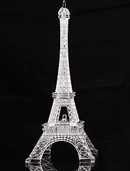 cheap -1pc Eiffel Tower LED Night Light Color-changing Button Battery Powered Decoration
