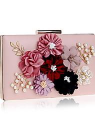 preiswerte -Damen Taschen PU Abendtasche Applikationen Blume für Hochzeit Veranstaltung / Fest Ganzjährig Gold Weiß Schwarz Rote Rosa