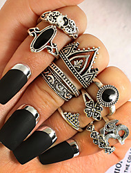 cheap -Women's Alloy - 10pcs Vintage / Statement Silver Ring For Gift / Daily / Women's / 10pcs / Alloy