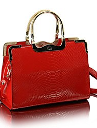 cheap -Women Bags Patent Leather Tote Zipper for Wedding Formal All Season Blue Black Red