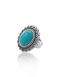 cheap -Women's Band Ring Turquoise Silver Turquoise Alloy Simple Vintage Daily Costume Jewelry