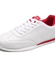abordables -Homme Chaussures Cuir Printemps Automne Confort Chaussures d'Athlétisme Marche Lacet Pour Athlétique Blanc Rose et blanc Noir/blanc