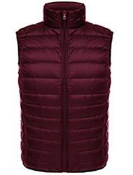 Men's Regular Vest Coat,Casual To-Go Solid-Nylon Sleeveless