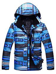 cheap -Men's Ski Jacket Warm Windproof Wearable Breathability Skiing Snow sports Ski/Snowboarding Brocade