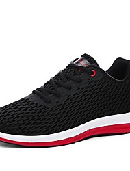 cheap -Men's Shoes Knit Breathable Mesh Winter Fall Comfort Light Soles Athletic Shoes Running Shoes for Athletic Casual Black Dark Blue Gray