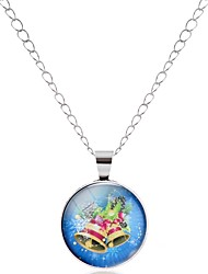 cheap -Men's Women's Circle Bohemian Sweet Colorful Gift Hiphop Pendant Necklace Glass Alloy Pendant Necklace , Ceremony Carnival