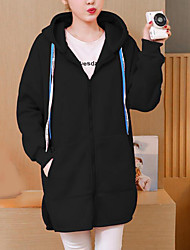 Sweat à capuche Femme Coton Imprimé Capuche Micro-élastique Coton Manches Longues Hiver