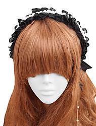 Jóias Gótica Decoração de Cabelo Lolita Feminino Preto Acessórios Lolita Rendas Peça para Cabeça Renda Jóias Artificiais