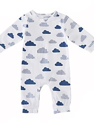 abordables -bébé Une-Pièce Garçon Mode Classique Coton Hiver Printemps/Automne Manches Longues One Piece Classique Basique Blanc