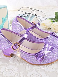 cheap -Girls' Shoes Microfibre Spring Summer Flower Girl Shoes Flats Bowknot for Casual White Purple Red
