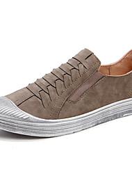 preiswerte -Herren Schuhe Leder Herbst Komfort Sneakers Für Normal Schwarz Grau Khaki
