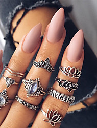 cheap -Women's Knuckle Ring Metallic Vintage Alloy Leaf Jewelry Daily Bar