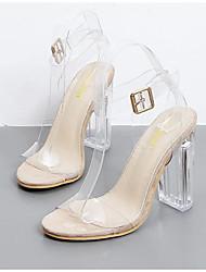 preiswerte -Damen Schuhe Kunstleder Frühling Herbst Pumps Sandalen für Normal Schwarz Mandelfarben