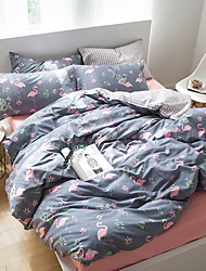 economico -Contemporaneo Misto cotone Con stampe Misto cotone 1 Copripiumino Copri cuscino (2 pz.) Lenzuolo (1 pz.)