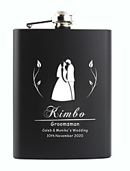cheap -Personalized Stainless Steel  Flasks 8-oz Gifts Flask   Hip Flask