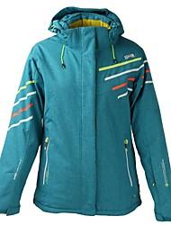 cheap -Women's Ski Jacket Warm Waterproof Windproof Wearable Breathability Lightweight Skiing Ski/Snowboarding Cotton Polyster