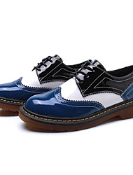 cheap -Women's Shoes PU Spring Fall Comfort Oxfords For Casual Blue Black