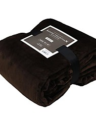 cheap -Super Soft,Yarn Dyed Solid Polyester/Cotton Blend Blankets