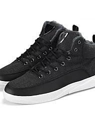 cheap -Men's Shoes Fabric Winter Comfort Sneakers For Casual Khaki Black White