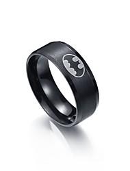 Homens Mulheres Anéis Grossos Aço Inoxidável Formato Circular Jóias Para Diário Tamanho 7 8 9 10 11