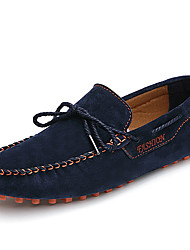 cheap -Men's Shoes Nappa Leather Fall Winter Moccasin Boat Shoes For Casual Party & Evening Blue Yellow Gray