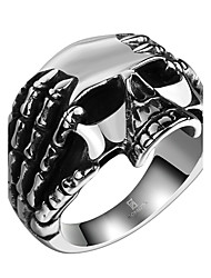 cheap -Men's Ring - Stainless Steel Skull Rock, Hip-Hop, Statement 8 / 9 / 10 Silver For Halloween / Street