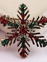 abordables -Vacaciones Joyería de Fiestas Broche de Navidad Oro Accesorios de cosplay Navidad
