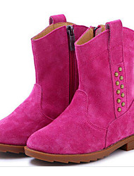 cheap -Girls' Shoes Nubuck leather Winter Comfort / Fashion Boots Boots for Yellow / Fuchsia / Brown