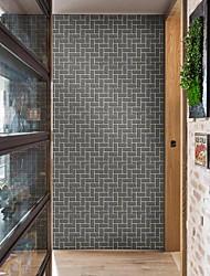 abordables -3D Formes Géométriques Décoration d'intérieur Moderne Rustique Revêtement, PVC/Vinyl Matériel Ruban Adhésif fond d'écran, Couvre Mur