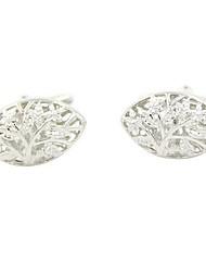 cheap -Floral Pattern Silver Cufflinks Fashion Gift Work Men's Costume Jewelry