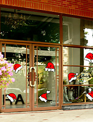 cheap -Print Christmas Window Sticker Material Window Decoration