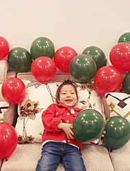 cheap -50pcs -12inch - Red and Green Mix Color - Latex Balloons Christmas Party Decoration