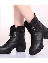 economico -Per donna Stivaletti da danza Pelle A stivale / Tacchi Quadrato Personalizzabile Scarpe da ballo Nero / Da allenamento