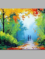 Company in Autumn Wall Decor Hand Painted Contemporary Oil Paintings Modern Artwork Wall Art