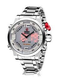 baratos -Homens Relógio de Moda / Relógio de Pulso Impermeável Liga de Metal Banda Amuleto Prata