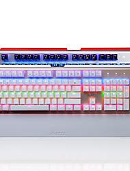 Недорогие -AJAZZ AK49 Проводное RGB подсветка Синие переключатели 104 Механическая клавиатура Влагозащищенная Подсветка
