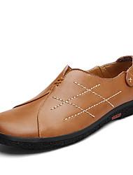 Masculino sapatos Pele Napa Primavera Outono Conforto Mocassins e Slip-Ons para Casual Preto Castanho Claro Castanho Escuro