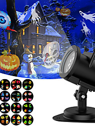 cheap -Led Christmas Projector Lights White Soft Protect Eyes Indoor and outdoor replacement Switchable pattern 16 Slides for holiday Wedding Family Party