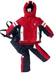 Недорогие -Phibee Детские Лыжная куртка и брюки Теплый Водонепроницаемость С защитой от ветра Пригодно для носки Катание на лыжах Полиэстер