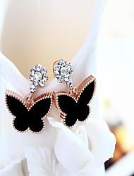 cheap -Women's Stud Earrings Hoop Earrings Rhinestone Classic Lovely Fashion Hypoallergenic Korean Alloy Bowknot Jewelry For Daily Work