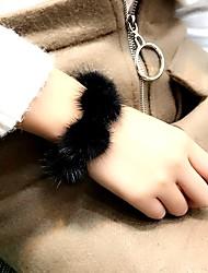 Per donna Bracciali a catena e maglie Bracciale Perle finte Vintage Casual Coreano Di tendenza Elegant Perle finte Pelliccia Lega