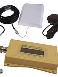 mini écran lcd intelligent umts 3g980 2100mhz répéteur de signal de téléphone portable avec antenne de panneau extérieur / antenne fouet