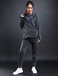 cheap -Women's Tracksuit Long Sleeves Breathable Tracksuit for Running/Jogging Fitness Polyster Black Grey S M L XL XXL