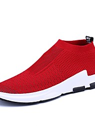 cheap -Men's Shoes Knit Spring Summer Light Soles Athletic Shoes for Casual Outdoor Black Gray Red