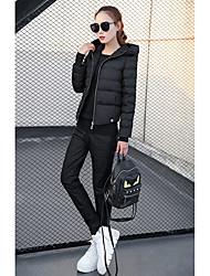 Dámské Standardní Dlouhý kabát Jednoduchý Šik ven Bavlna Jdeme ven Jednobarevné-Kabát Bavlna Polyester Šetrný k životnímu prostředí
