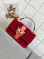 Women Bags Velvet Tote Pockets for Casual Outdoor Winter Fall Black Red Military Green Yellow
