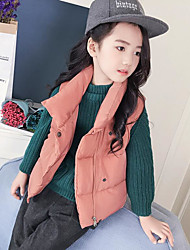 cheap -Girls' Solid Suit & Blazer,Acrylic Long Sleeves Black Blushing Pink