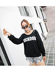Women's To-Go Sweatshirt Solid Hoodie Micro-elastic Cotton Long Sleeves Fall