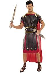 abordables -Spartiates Rome antique Epoque Médiévale Costume Homme Bal Masqué Tenue Rouge Vintage Cosplay Polyester